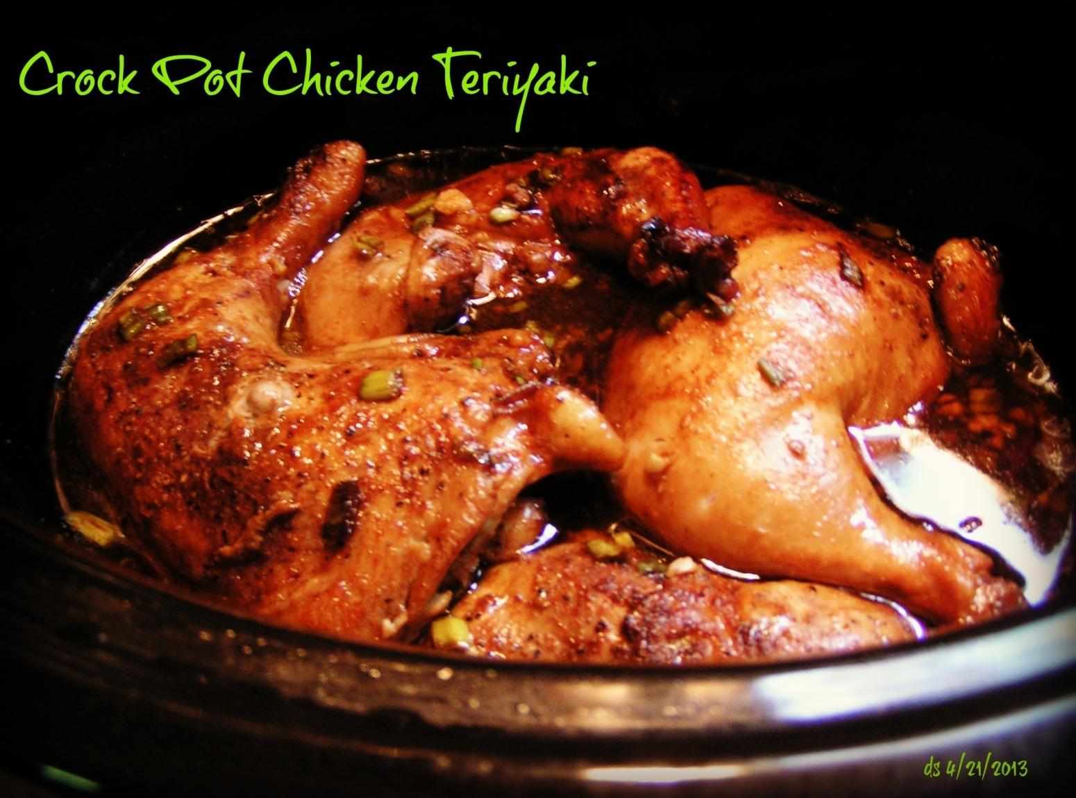Crock pot chicken teriyaki recipe just a pinch recipes for Cooking chicken thighs in crock pot