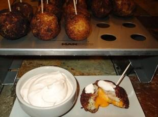 Bacon, Cheddar, and Potato Croquette w/ Chipotle Sour Cream Recipe