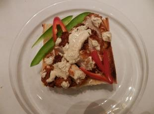 Spicy Fried Indian Chicked Sandwich Recipe