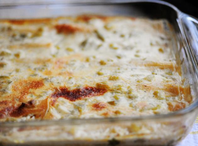 White Chicken Enchiladas Recipe 5 | Just A Pinch Recipes