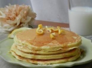 Lemon Pancakes with Lemon Syrup Recipe