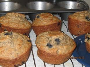 Whole Wheat Banana Blueberry Muffins Recipe
