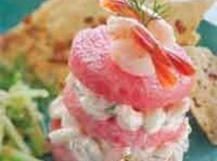Watermelon and Shrimp Salad Recipe