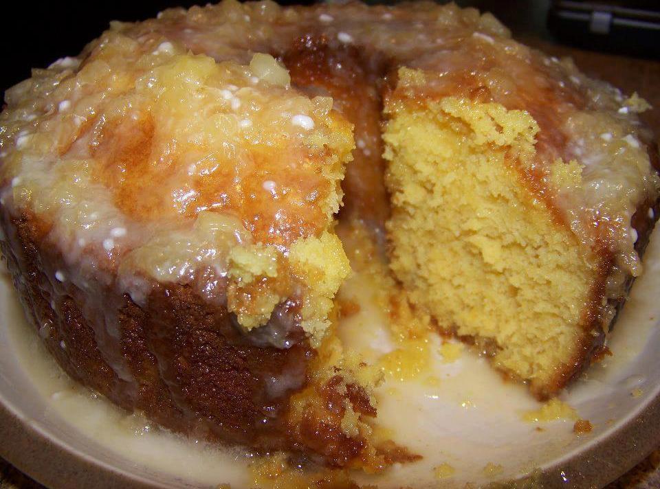 Pineapple Cake With Pineapple Glaze Recipe