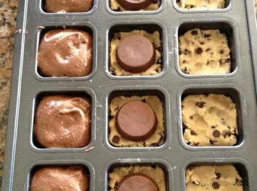 Chocolate Chip Cookie Dough Peanut Butter Cups Brownie Mix