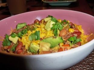Taco Soup with Spanish Rice Recipe