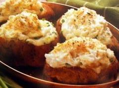Roasted Garlic & Parmesan Twice Baked Potatoes Recipe | Just A Pinch ...