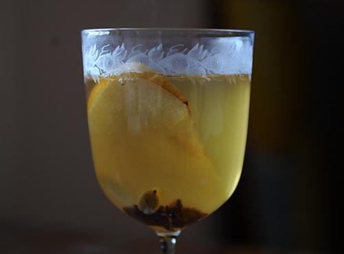 Mulled White Wine with Pear Brandy Recipe | Just A Pinch Recipes