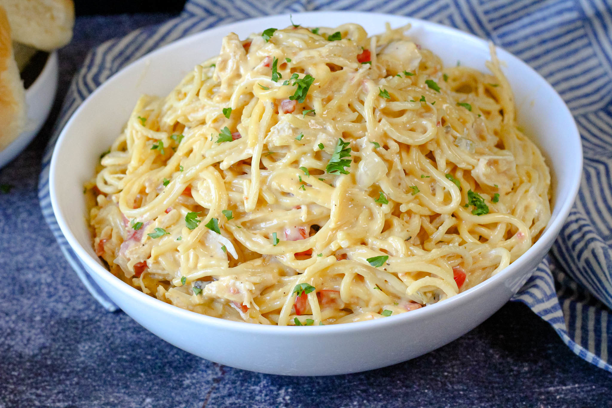 Chicken Spaghetti Recipe 13 | Just A Pinch Recipes