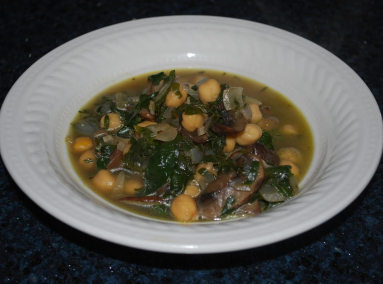Hearty Spinach and Chickpea Soup Recipe | Just A Pinch Recipes