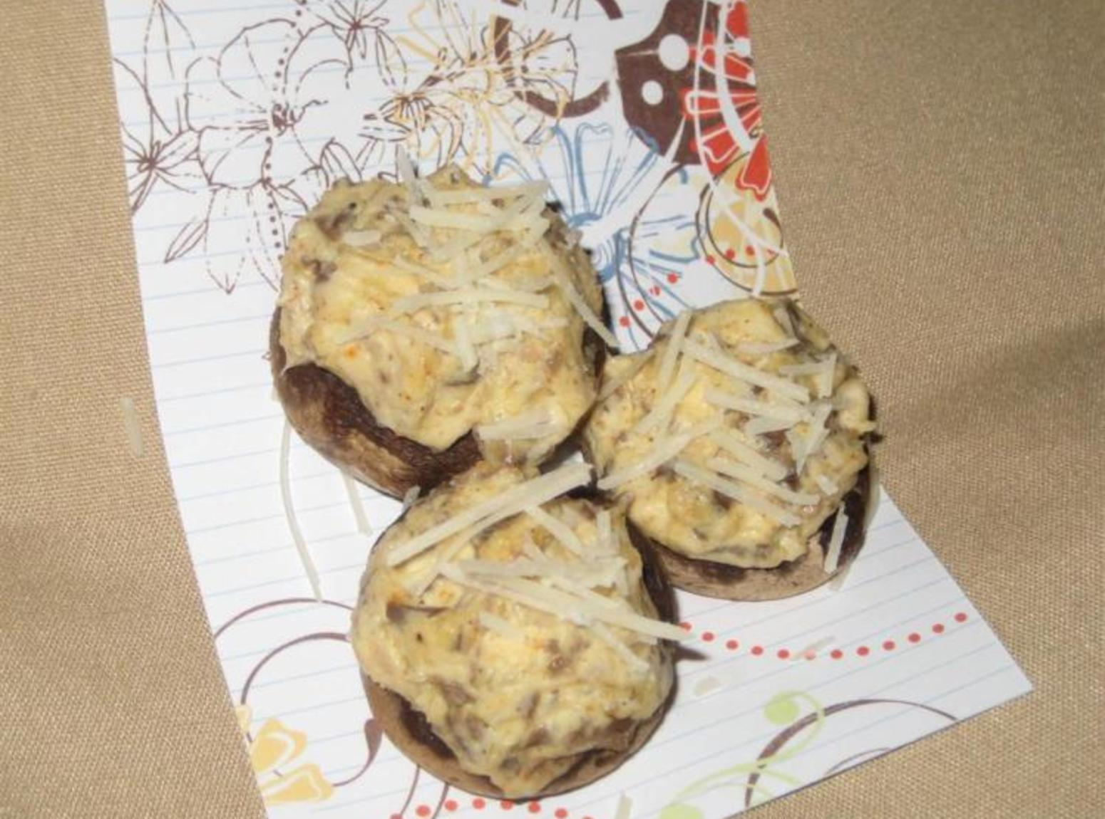 No Meat But All Heat Stuffed Mushrooms Recipe