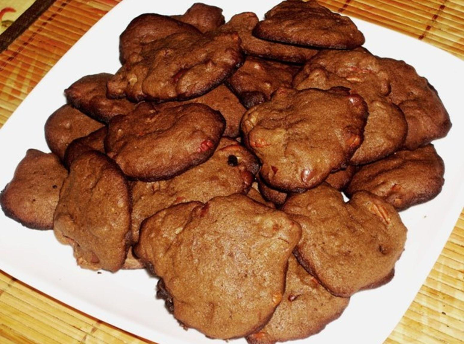 Crispy Double Chocolate Chip Pecan Cookies Recipe | Just A Pinch ...