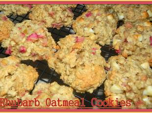 Rhubarb Oatmeal Cookies Recipe