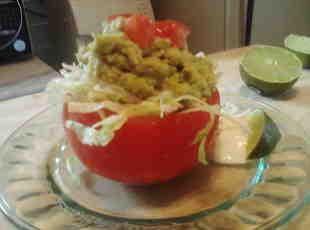 Avacado Salad Stuffed Tomato Cups Recipe