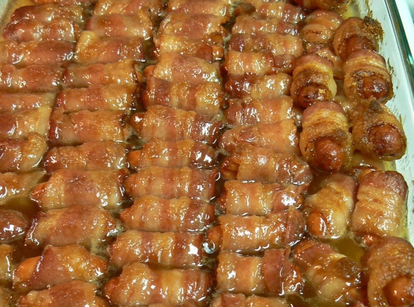 Bacon Wrapped Smokies with Brown Sugar and Butter Recipe 2 | Just A ...