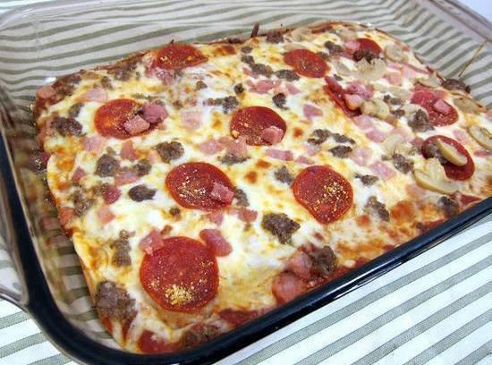 NO DOUGH PIZZA Recipe