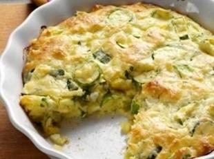 Zucchini Onion Pie Recipe