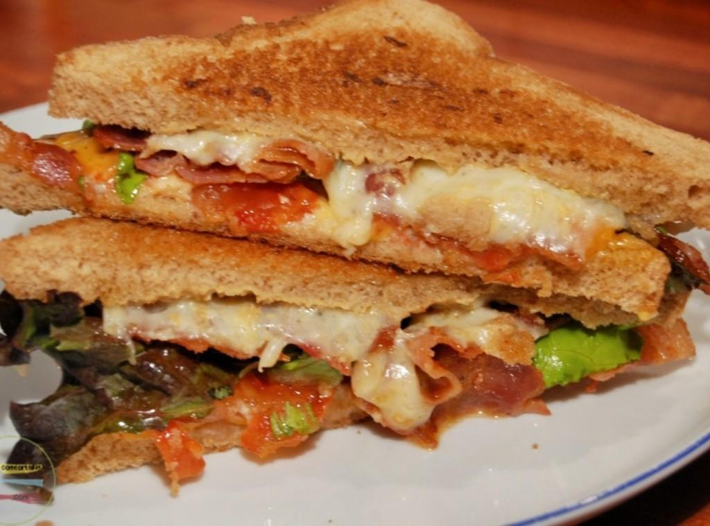 the BLT grilled cheese sandwich Recipe | Just A Pinch Recipes