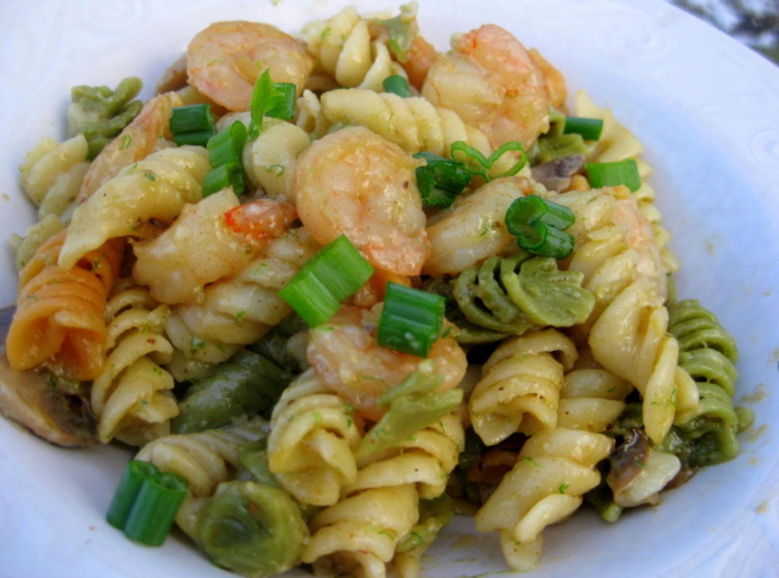Shrimp Pasta with Mushrooms Recipe