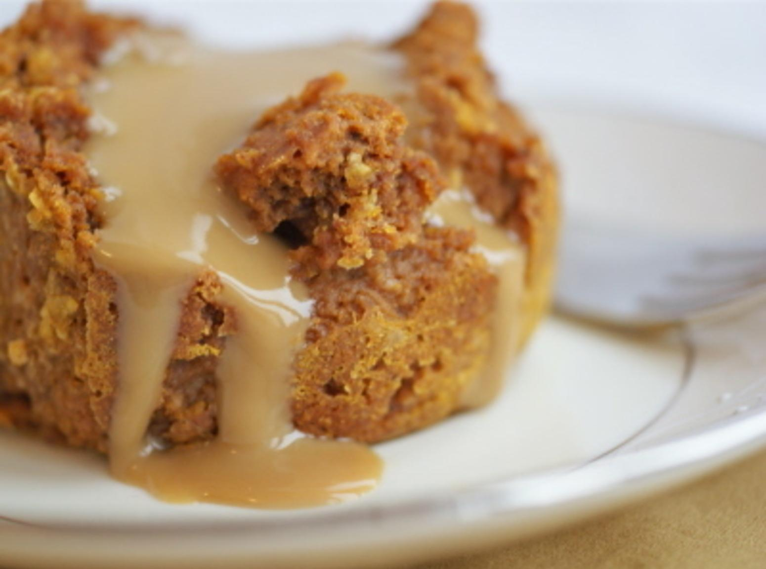 Pumpkin Bread Pudding with Caramel Sauce Recipe | Just A ...