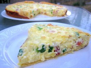 Bacon and Green Onion Breakfast Tart Recipe