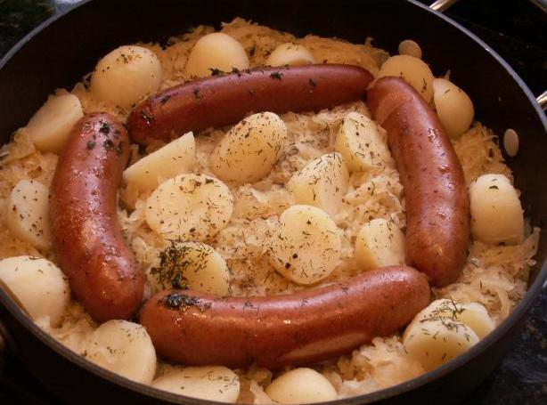 Dogs Kraut and Taters Recipe