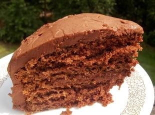 Chocolate Cake W/ Chocolate Butter Cream Frosting Recipe