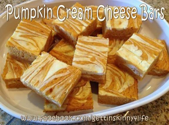 SKINNY PUMPKIN CREAM CHEESE BARS Recipe