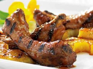 Teriyaki Ribs with Grilled Pineapple