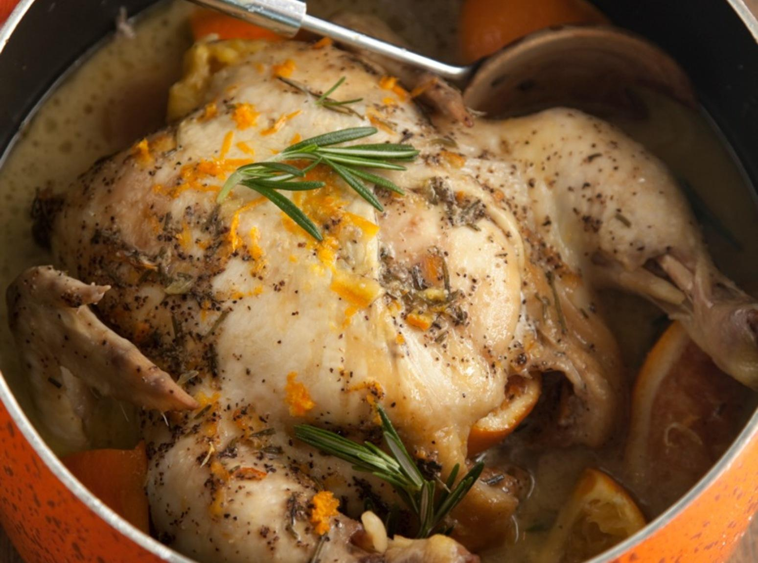 Slow Cooker Orange Rosemary Chicken Recipe | Just A Pinch Recipes