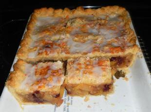 ZUCCHINI  CRAISEN SLICES (Think Apple Pie!) Recipe