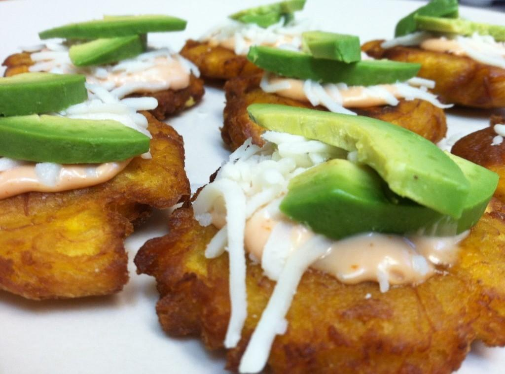 Tostones Fried Green Plantains With Avocado Recipe | Just ...
