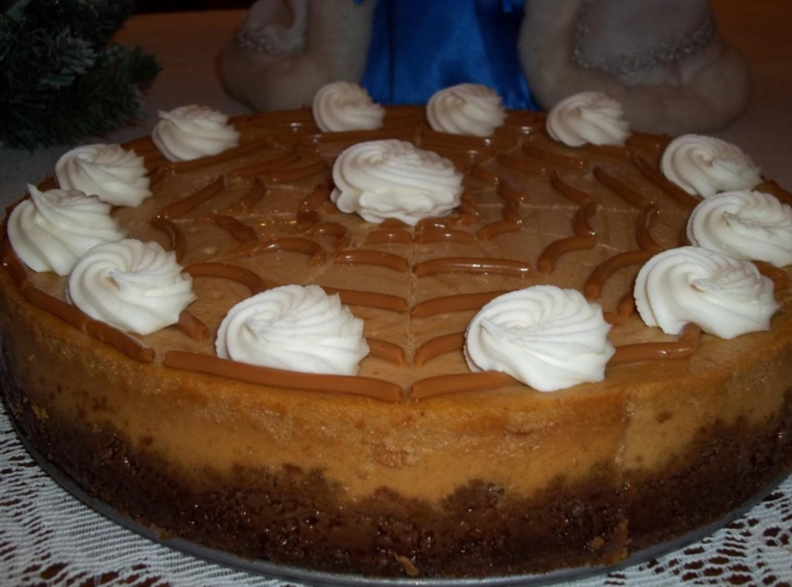 Dulce de Leche Pumpkin Swirled Cheesecake Recipe