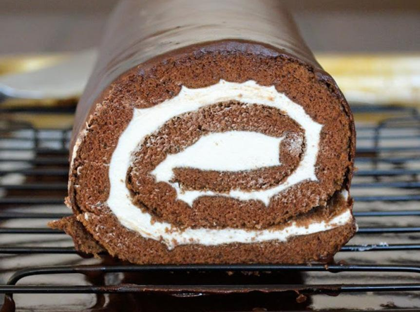 Chocolate Cream Swirl Cake Recipe