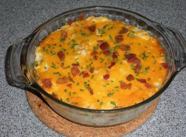 LOADED CAULIFLOWER CASSEROLE Recipe