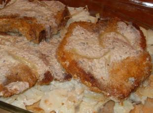 Farmer's Pork Chops by Sharon Recipe
