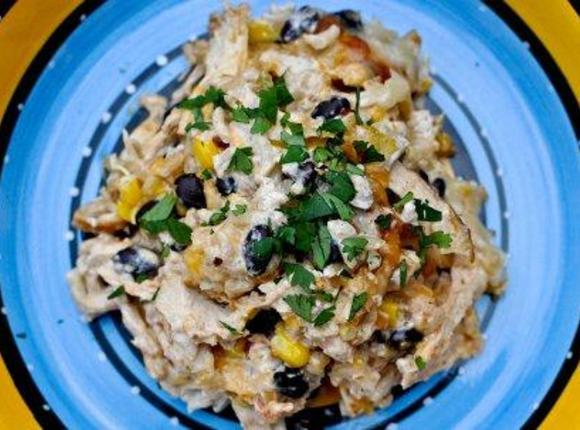 Cheesy Chicken and Rice Bake Recipe 2   Just A Pinch Recipes