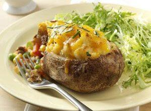 Shepherd's Pie Twice-Baked Potatoes Recipe | Just A Pinch Recipes