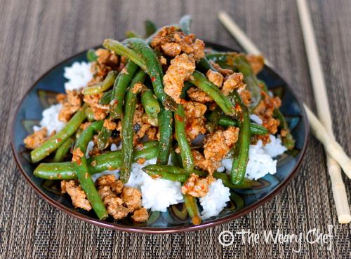 ... Green Beans with Ground Turkey over Rice Recipe | Just A Pinch Recipes
