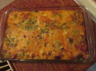 Chile Rellenos Casserole with Pizazz