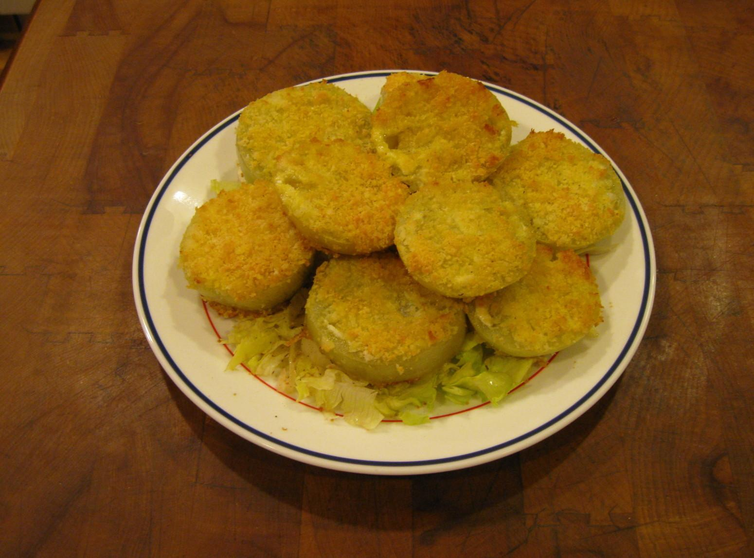 Baked Fried green tomatoes Recipe | Just A Pinch Recipes