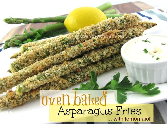 Oven Baked Asparagus Fries with Lemon Aioli Recipe | Just A Pinch ...
