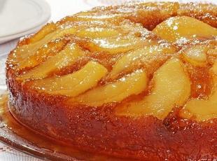 Upside Down Pear Cake Recipe