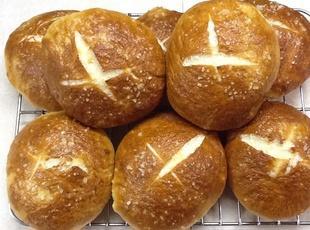 Salted Pretzel Buns Recipe