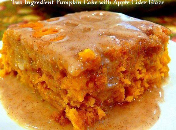 Pumpkin Cake with Apple Cider Glaze Recipe