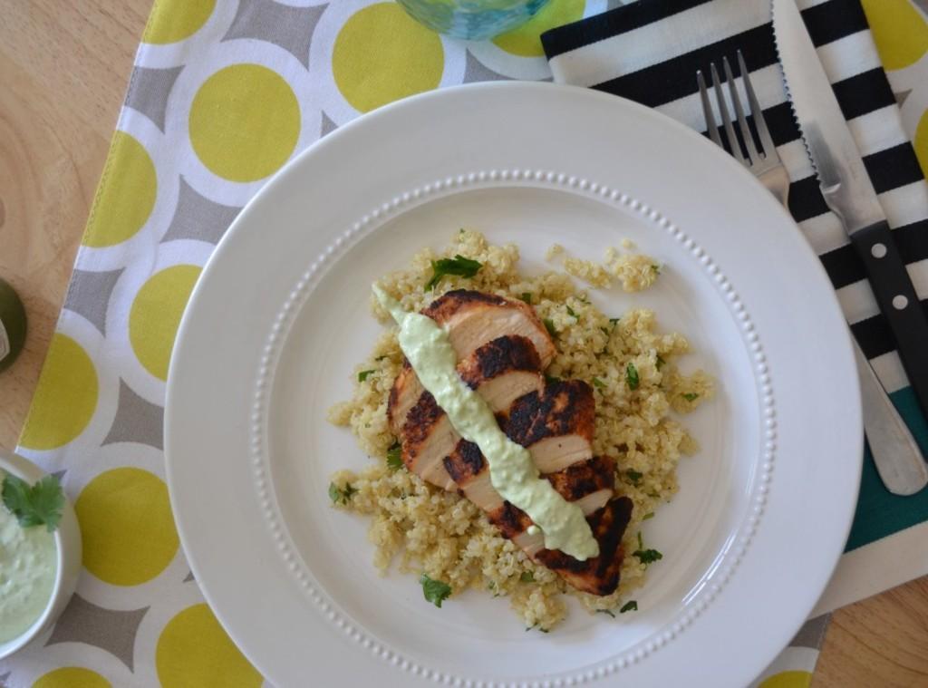 Blackened Chicken and Cilantro Lime Quinoa Recipe | Just A Pinch ...