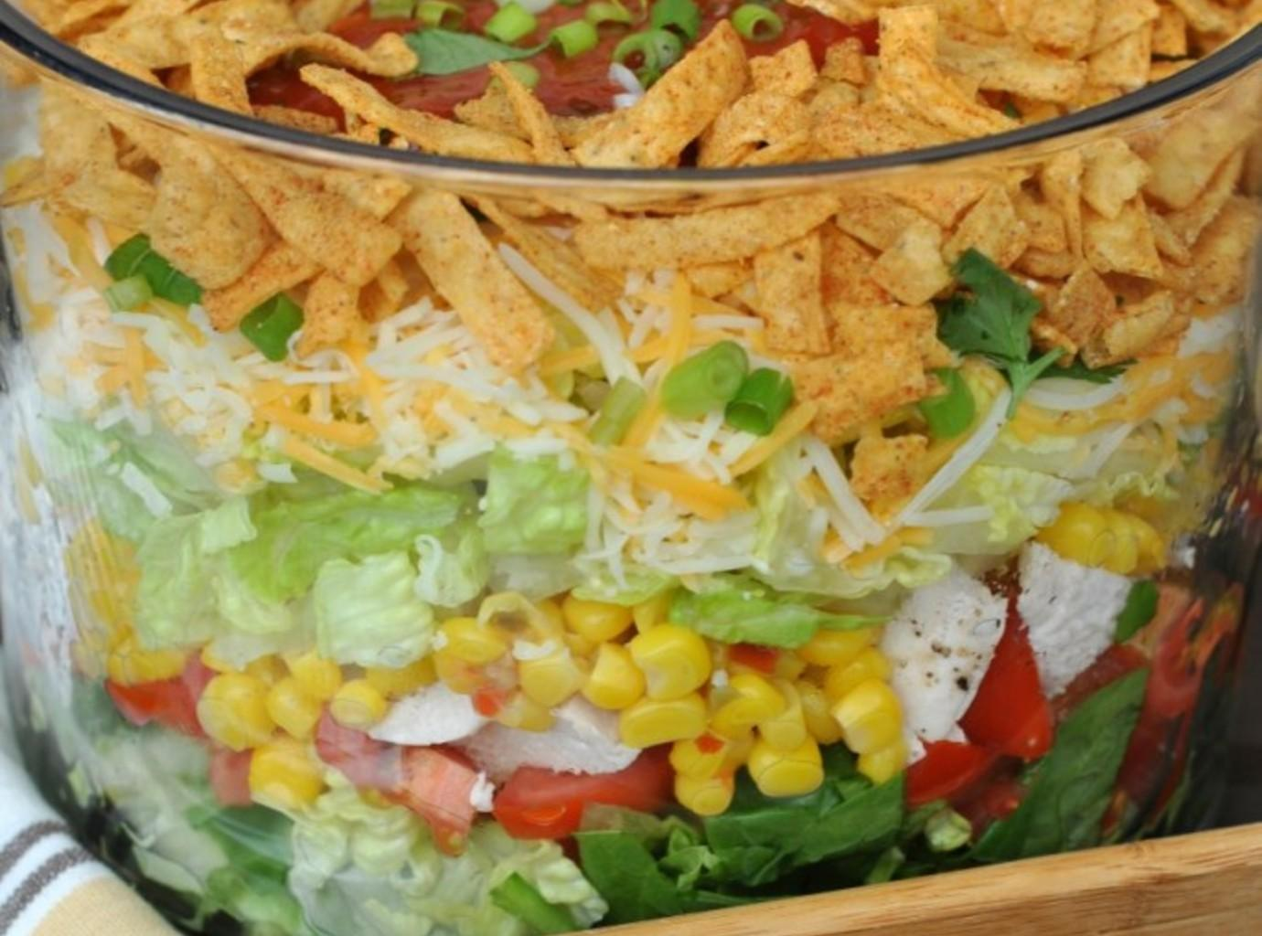 taco salad layered raw taco salad for two recipe yummly layered taco ...