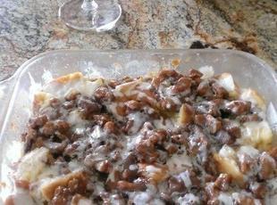 White Chocolate Pecan Caramel Bread Pudding Recipe