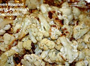 Oven Roasted Garlic Parmesan Cauliflower Recipe