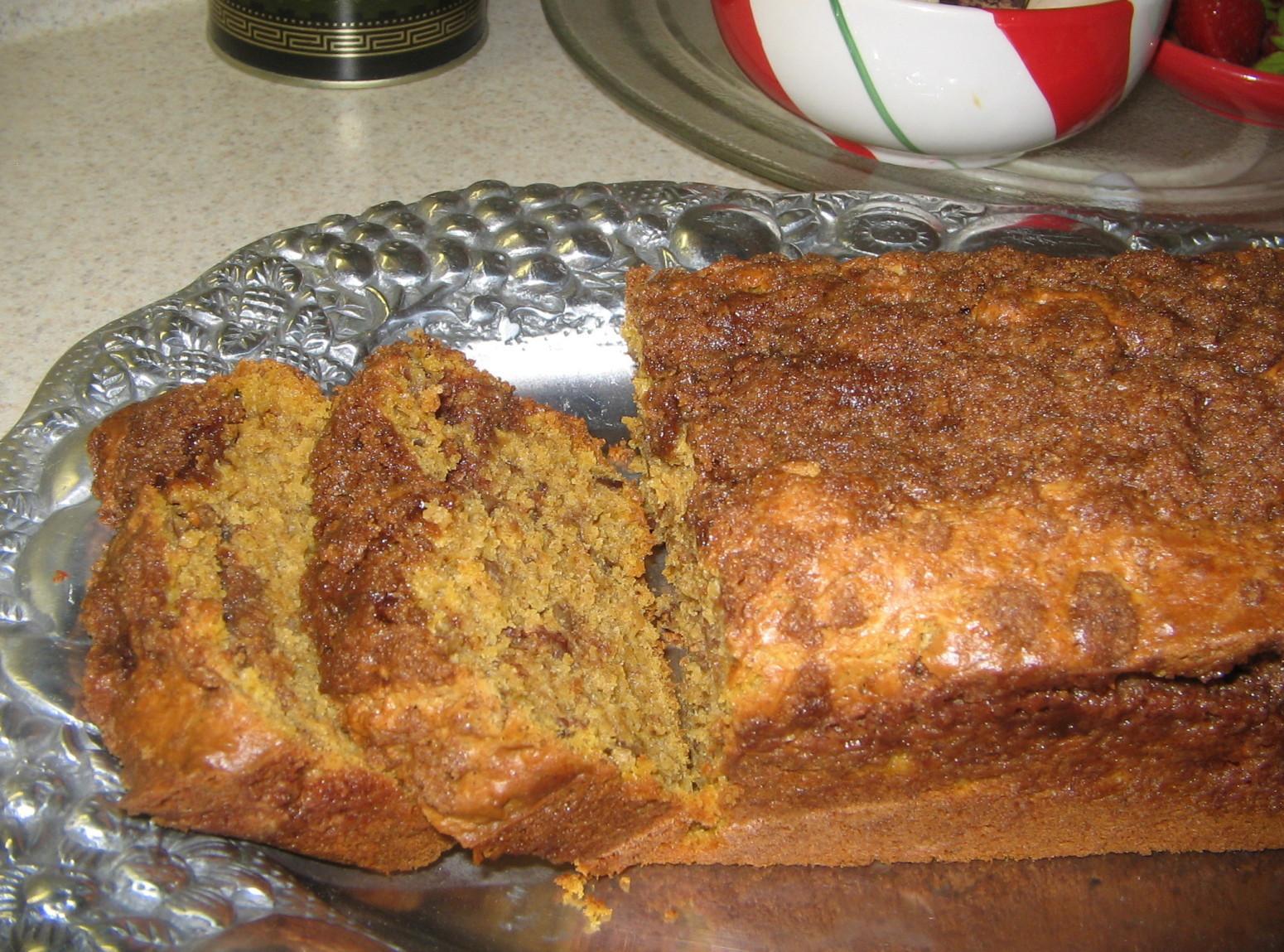 Cinnamon Swirl Pumpkin Quick Bread Recipe | Just A Pinch ...